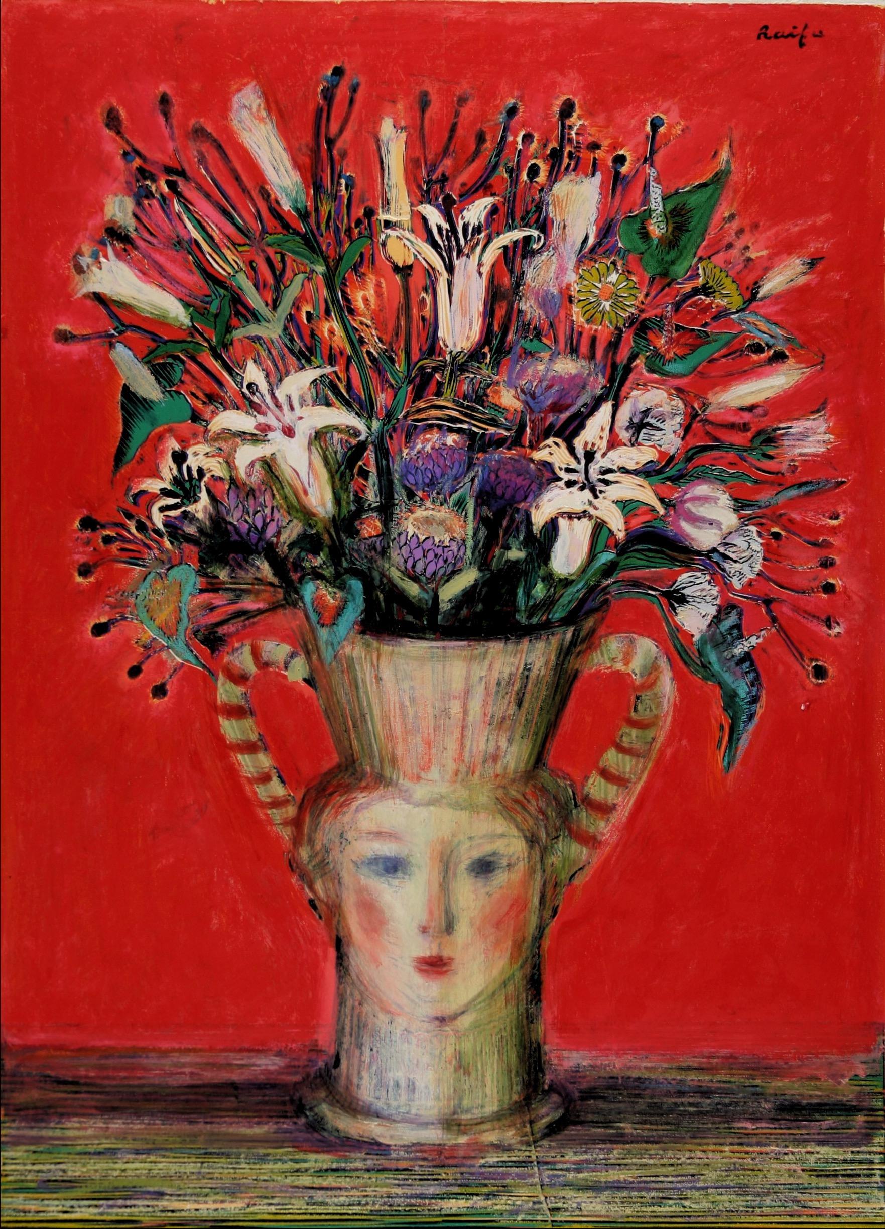 不思議な花瓶の花