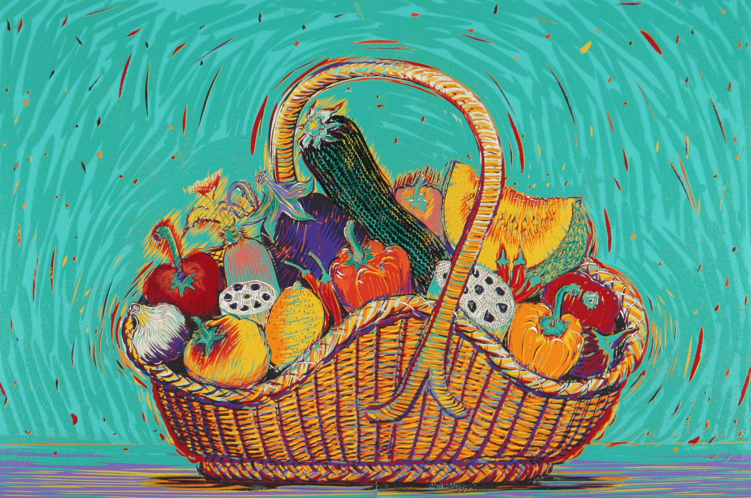 籠の夏野菜 1